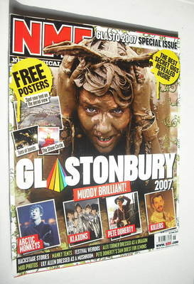 <!--2007-06-30-->NME magazine - Glastonbury 2007 cover (30 June 2007)