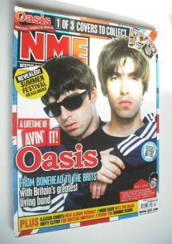 NME magazine - Oasis cover (17 February 2007)