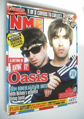 <!--2007-02-17-->NME magazine - Oasis cover (17 February 2007)