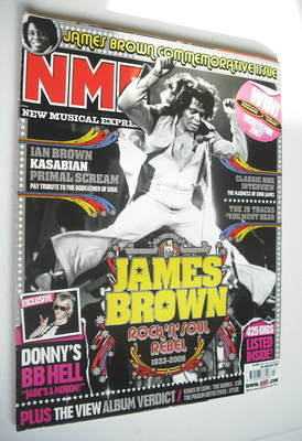 <!--2007-01-20-->NME magazine - James Brown cover (20 January 2007)