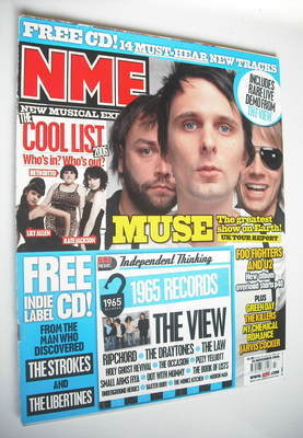 <!--2006-11-25-->NME magazine - Muse cover (25 November 2006)