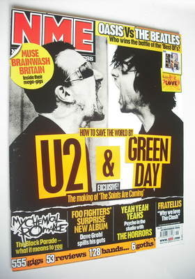 <!--2006-11-18-->NME magazine - U2 and Green Day cover (18 November 2006)