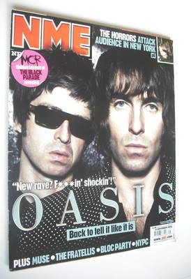 <!--2006-11-11-->NME magazine - Oasis cover (11 November 2006)