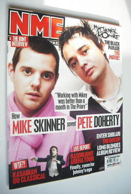 <!--2006-11-04-->NME magazine - Mike Skinner and Pete Doherty cover (4 Nove