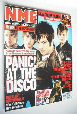 <!--2006-10-21-->NME magazine - Panic! At The Disco cover (21 October 2006)