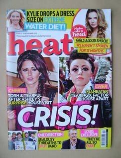 <!--2010-11-06-->Heat magazine - Cheryl Cole and Cher Lloyd cover (6-12 Nov