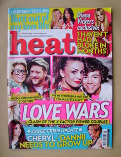 <!--2010-10-30-->Heat magazine - Love Wars cover (30 October-5 November 201