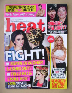 <!--2010-10-23-->Heat magazine - Cher Lloyd cover (23-29 October 2010 - Iss