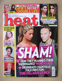 <!--2010-10-09-->Heat magazine - Chantelle Houghton and Preston cover (9-15