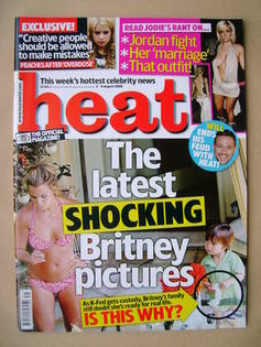 <!--2008-08-02-->Heat magazine - Britney Spears cover (2-8 August 2008 - Is