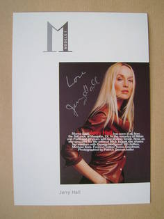 Jerry Hall autograph