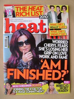 <!--2010-12-04-->Heat magazine - Cheryl Cole cover (4-10 December 2010 - Is