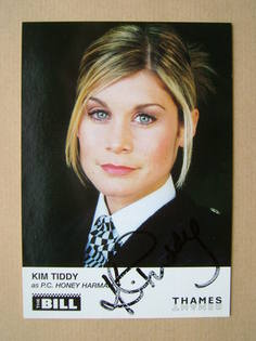 Kim Tiddy autograph (ex The Bill actor)