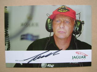 Niki Lauda autograph