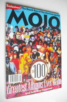 MOJO magazine - The 100 Greatest Albums Ever Made cover (August 1995 - Issue 21)
