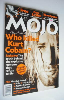 <!--1998-05-->MOJO magazine - Kurt Cobain cover (May 1998 - Issue 54)
