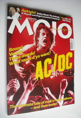 <!--2000-12-->MOJO magazine - AC/DC cover (December 2000 - Issue 85)
