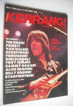 Kerrang magazine - Scott Gorham cover (11-24 February 1982 - Issue 9)