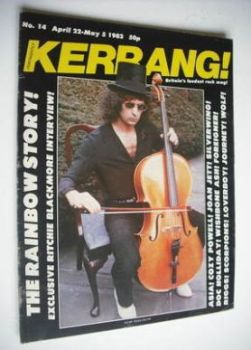 Kerrang magazine - Ritchie Blackmore cover (22 April - 5 May 1982 - Issue 14)