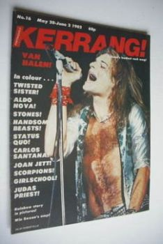 Kerrang magazine - Van Halen cover (20 May - 2 June 1982 - Issue 16)