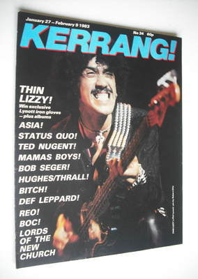 <!--1983-01-27-->Kerrang magazine - Phil Lynott cover (27 January - 9 Febru