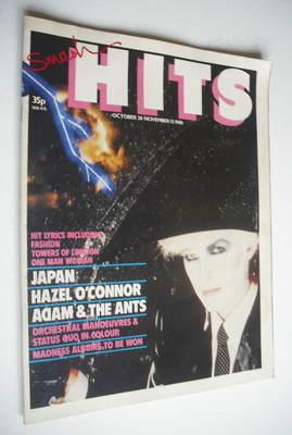 <!--1980-10-30-->Smash Hits magazine - David Sylvian cover (30 October - 12