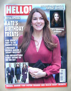 <!--2013-01-21-->Hello! magazine - Kate Middleton cover (21 January 2013 -