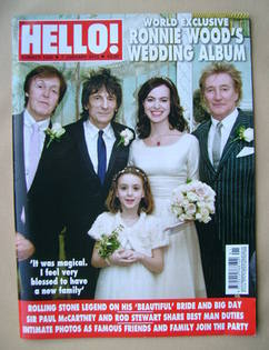 <!--2013-01-07-->Hello! magazine - Ronnie Wood wedding cover (7 January 201