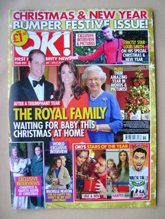 <!--2013-01-01-->OK! magazine - The Royal Family cover (1 January 2013 - Is