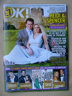 <!--2013-02-19-->OK! magazine - Heidi Montag and Spencer Pratt cover (19 Fe
