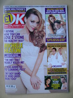<!--2013-02-20-->OK! magazine - Michelle Heaton cover (19 February 2013 - I