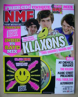 <!--2006-10-07-->NME magazine - The Klaxons cover (7 October 2006)