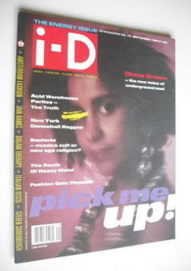 <!--1989-09-->i-D magazine - Diana Brown cover (September 1989 - Issue 73)