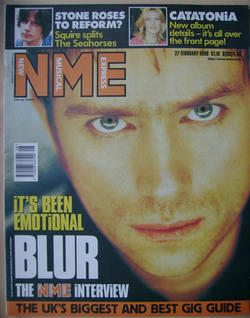 <!--1999-02-27-->NME magazine - Damon Albarn cover (27 February 1999)