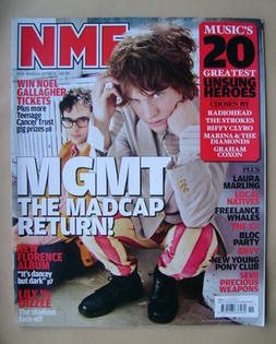 <!--2010-03-20-->NME magazine - MGMT cover (20 March 2010)