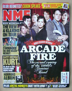 <!--2007-02-24-->NME magazine - Arcade Fire cover (24 February 2007)