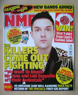 <!--2009-05-02-->NME magazine - Brandon Flowers cover (2 May 2009)