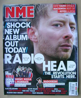 <!--2007-10-13-->NME magazine - Thom Yorke cover (13 October 2007)