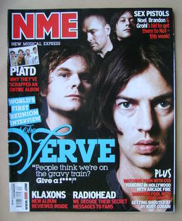 <!--2007-10-06-->NME magazine - The Verve cover (6 October 2007)