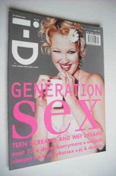 i-D magazine - Drew Barrymore cover (March 1995 - Issue 138)