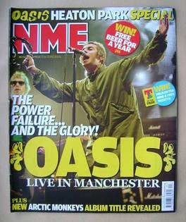 <!--2009-06-13-->NME magazine - Liam Gallagher cover (13 June 2009)
