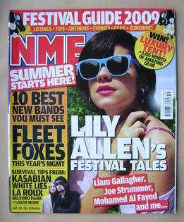<!--2009-05-09-->NME magazine - Lily Allen cover (9 May 2009)