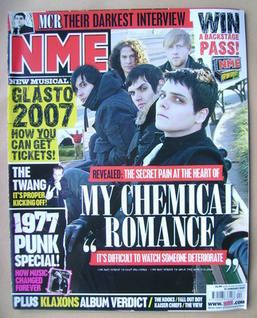 <!--2007-01-27-->NME magazine - My Chemical Romance cover (27 January 2007)