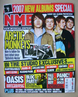 <!--2007-01-06-->NME magazine - Arctic Monkeys cover (6 January 2007)