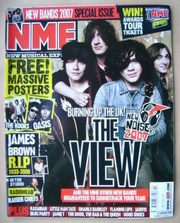 <!--2007-01-13-->NME magazine - The View cover (13 January 2007)