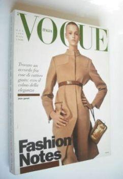 <!--1999-10-->Vogue Italia magazine - October 1999 - Jacquetta Wheeler cover