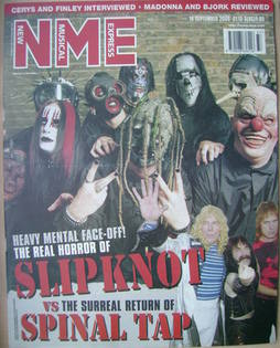 <!--2000-09-16-->NME magazine - Slipknot cover (16 September 2000)