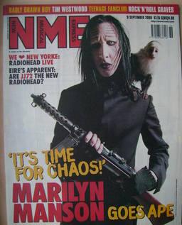<!--2000-09-09-->NME magazine - Marilyn Manson cover (9 September 2000)