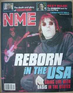 <!--1999-12-11-->NME magazine - Liam Gallagher cover (11 December 1999)