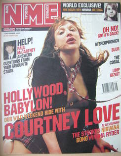 <!--2001-12-01-->NME magazine - Courtney Love cover (1 December 2001)